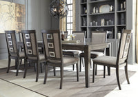 Chadoni Gray Rectangular Extendable Dining Room Set - Luna Furniture