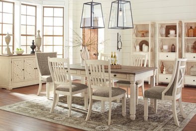 Bolanburg Antique White/Oak Dining Room Set - Luna Furniture