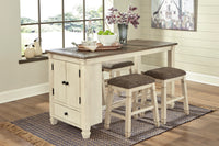 Bolanburg Antique White/Oak RECT Counter Height Set - Luna Furniture