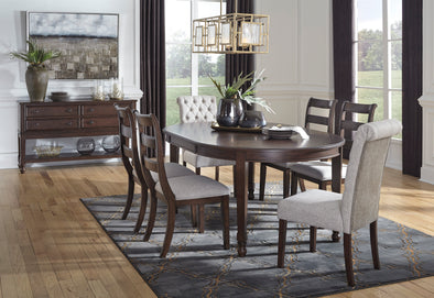 Adinton Reddish Brown Dining Room Set - Luna Furniture