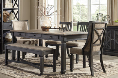 Tyler Creek Black/Gray Dining Room Set - Luna Furniture