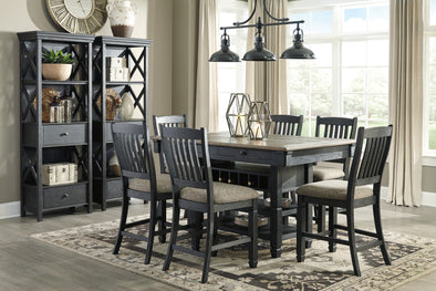 Tyler Creek Black/Gray Counter Height Set | D736