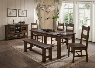 Emeline Brown Dining Table - Luna Furniture