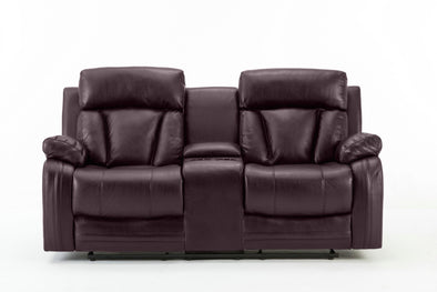 Colette Brown Reclining Loveseat - Luna Furniture