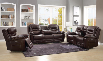Garrett Brown Power Reclining Loveseat - Luna Furniture