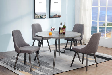 Ramsey Gray Round Dining Table - Luna Furniture