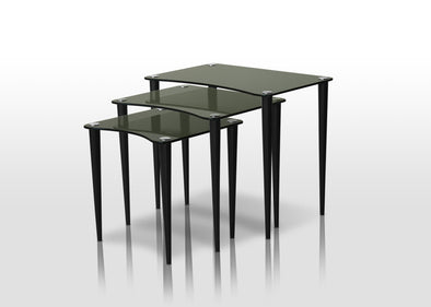 Lily Black 3-Piece Nesting Table