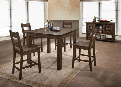Emeline Brown Counter Height Set