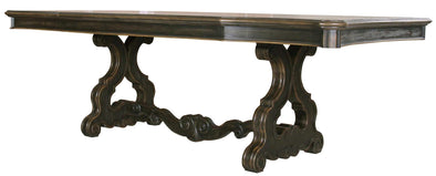 Bordeaux Espresso Pedestal Dining Table - Luna Furniture