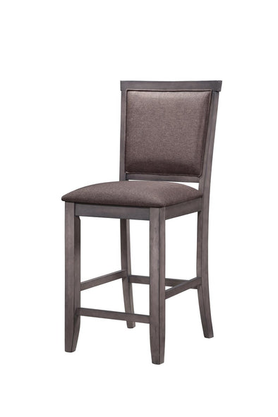 Ariel Brown Counter Height Chair, Set of 2 - Luna Furniture