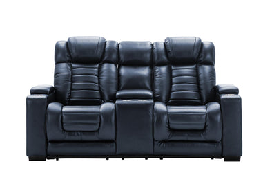 Collin Navy Power Reclining Loveseat - Luna Furniture