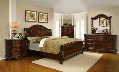 Ashton Brown King Sleigh Bed