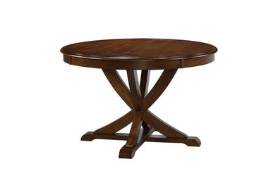 Venice Brown Round Dining Table - Luna Furniture
