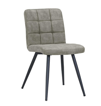 Bradford Gray Upholstered Dining Chair, Set of 2 - Luna Furniture