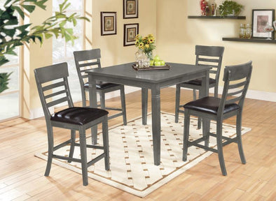 Paige Gray 5-Piece Counter Height Set