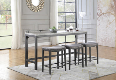Griffin Gray 4-Piece Counter Height Set