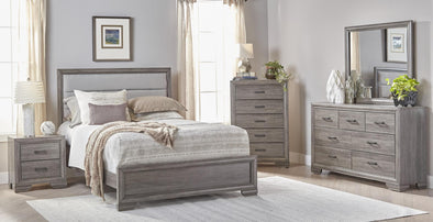 Chelsea Gray Full Panel Bed - Luna Furniture