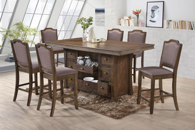 Leona Brown Counter Height Set