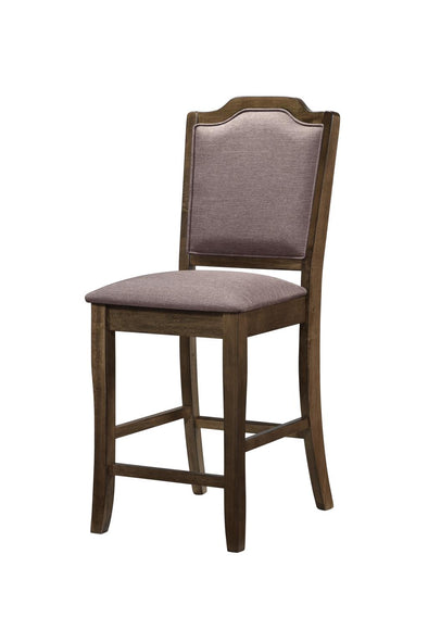 Leona Brown Counter Height Chair, Set of 2 - Luna Furniture