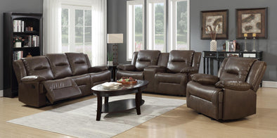 Layla Brown Reclining Loveseat - Luna Furniture