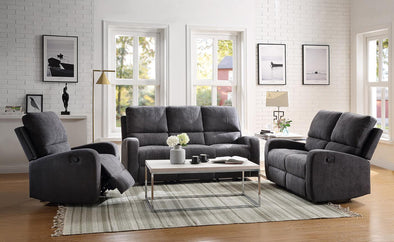 Bronson Gray Reclining Loveseat - Luna Furniture