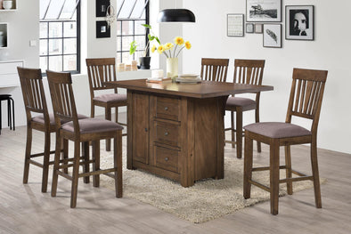 Norton Brown Counter Height Set