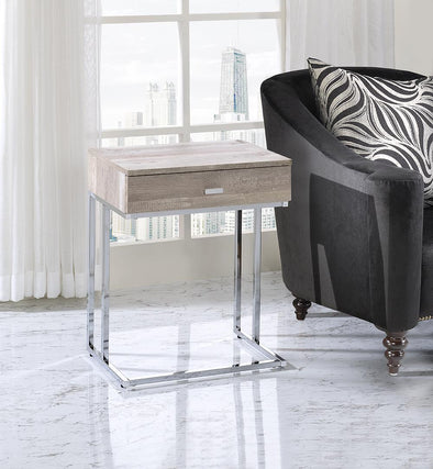 Chloe Taupe End Table - Luna Furniture