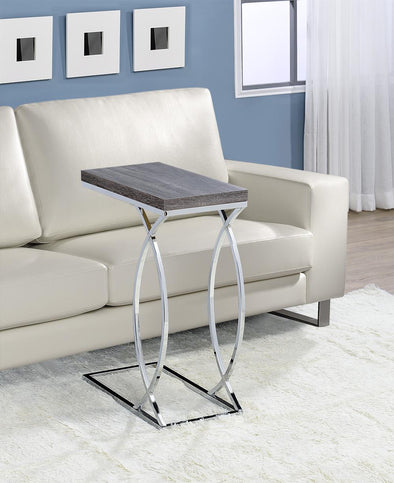 Fanetta Gray/Chrome Chair Side Table