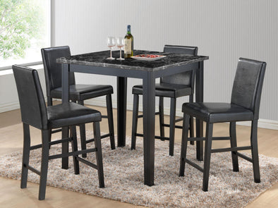 Harper Black Counter Height Table - Luna Furniture