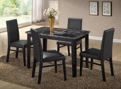 Harper Black Faux Marble Dining Table - Luna Furniture