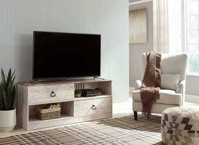 Willowton Whitewash RTA Large TV Stand - Luna Furniture