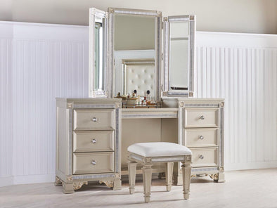 Gracie Pearl Vanity Set with Stool | GR545