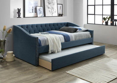 Giovanni Blue Daybed with Trundle | GV8010