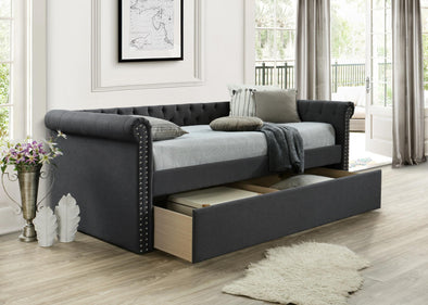 Zayden Charcoal Daybed with Storage | ZY8012