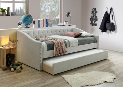 Giovanni Light Gray Daybed with Trundle | GV8010