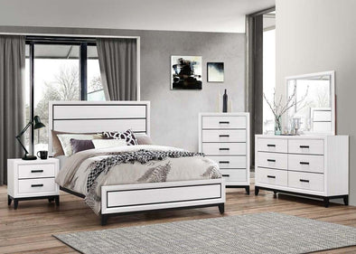 Shiloh White Nightstand - Luna Furniture