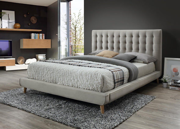 Newport Taupe Tufted King Platform Bed | 2990
