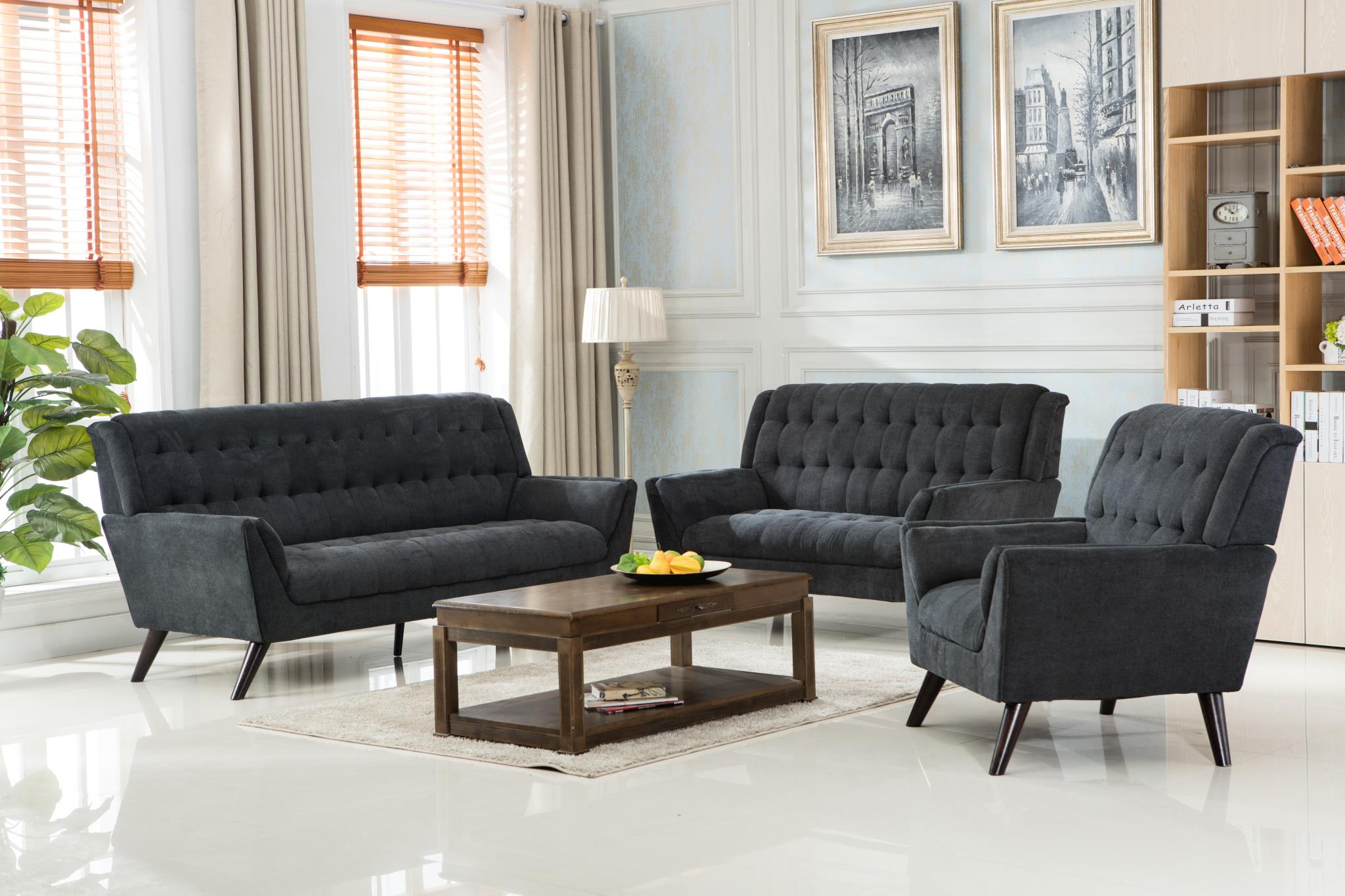 Elston Gray Living Room Set 1241