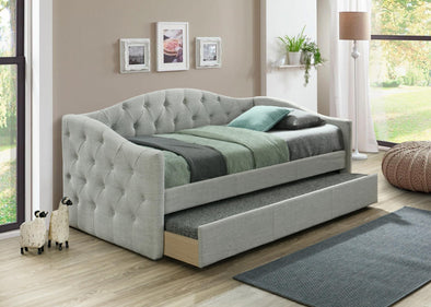 Emmett Light Gray Daybed with Trundle | EM8014