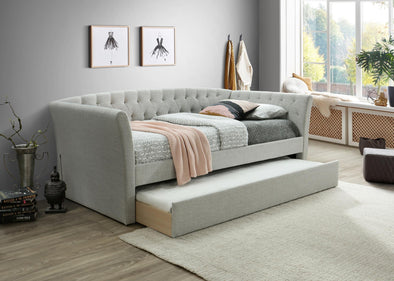 Maddox Light Gray Daybed with Trundle | MD8011