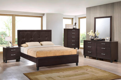 [SPECIAL] Brianna Walnut Panel Bedroom Set - Luna Furniture