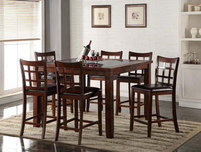 Zaire Cherry Brown Counter Height Set