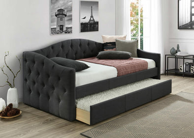 Emmett Charcoal Daybed with Trundle | EM8014