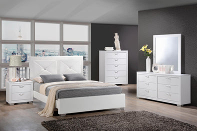 [HOT DEAL] Brahma White Panel Bedroom Set | BR1235
