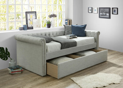 Zayden Light Gray Daybed with Storage | ZY8012