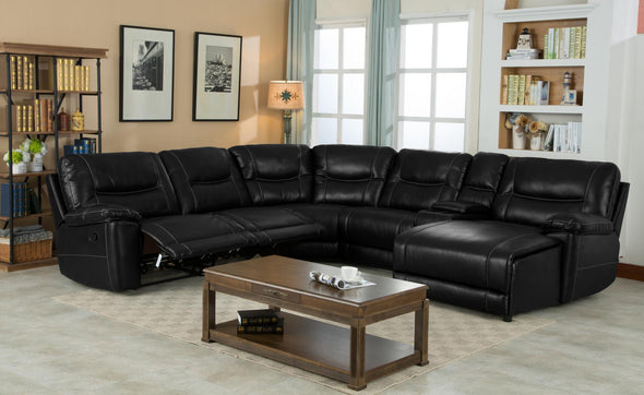 Miraculous Barrington Black Leather Gel Raf Chaise Reclining Sectional 1021 Pabps2019 Chair Design Images Pabps2019Com