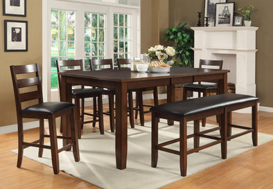 Arianna Brown Counter Height Set
