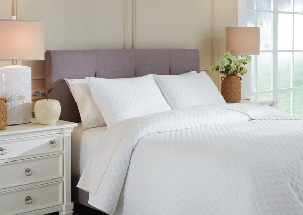 Ryter White Twin Coverlet Set - Luna Furniture