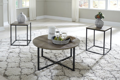Wadeworth Two-tone 3-Piece Occasional Table Set - Luna Furniture