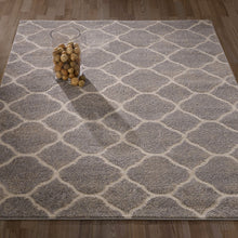Load image into Gallery viewer, Urban 4122 Moroccan Trellis Light Grey Area Rug - 5X7 - Bellaria Furniture HomeStore